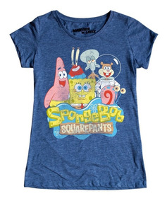 Playera Mascara De Latex Spongebob Squarepants Mujer