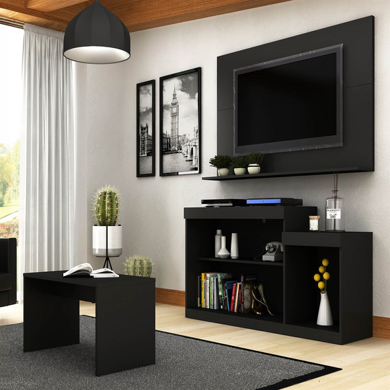 Rack Com Painel Para Tv Até 47 Pol E Mesa Centro Trevalla