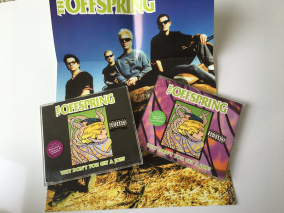 2 X The Offspring - Why Don`t You Get A Job Single + Poster