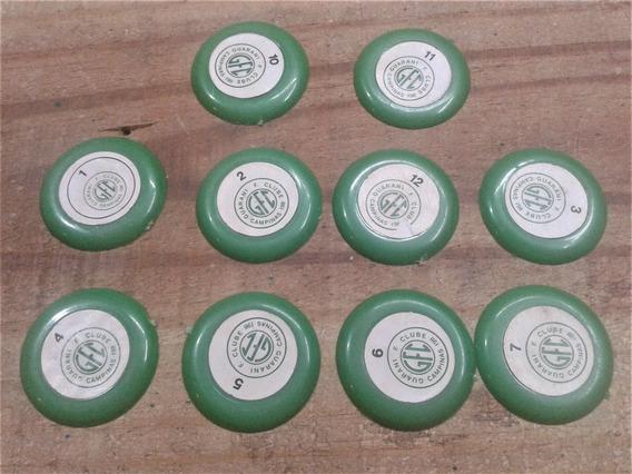 Jogo De Botão Antigo Plástico Verde
