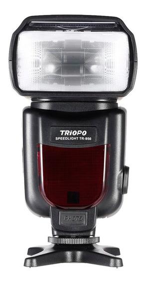 Flash Para Nikon Triopo Tr950 D7100 D3200 D5200 - Somos Loja