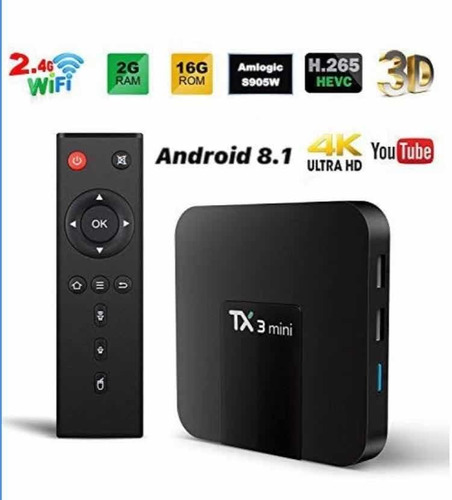 Tv Box Tx3 Mini 2gb 16gb Smart Tv Netflix Youtube Facebook