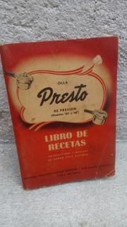 Libro De Recetas Presto 1947 , 148 Paginas