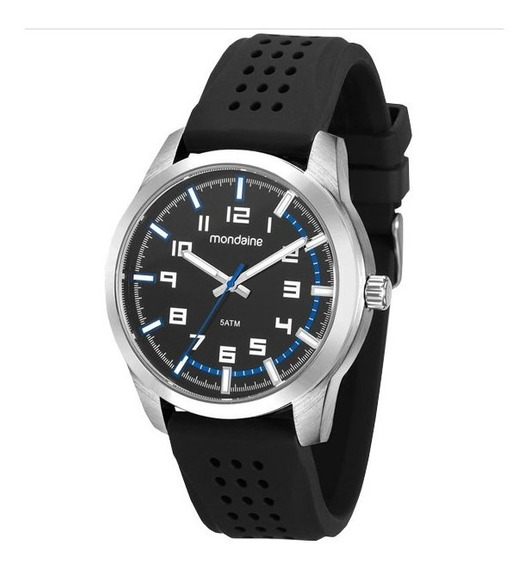 Relógio Mondaine Masculino Prata/preto 99044g0mvni1k1