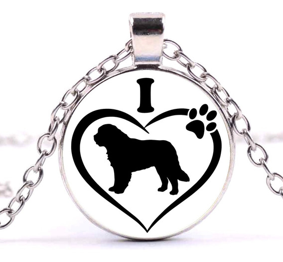 Collar Perrito San Bernardo Cachorro Dije Perrito Mascota Regalo Novia Novio Amigos Amigas Collar Moda Dije Cadena