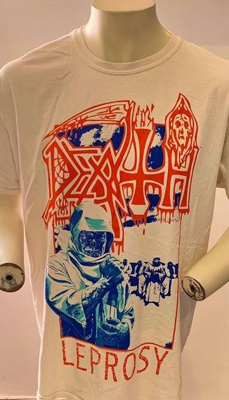 Death Leprosy Blue & Red (off White) T-shirt Merch Official