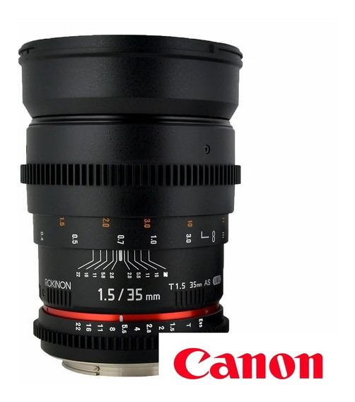 Lente Samyang 35mm F/1.4 - Rokinon - Para Canon