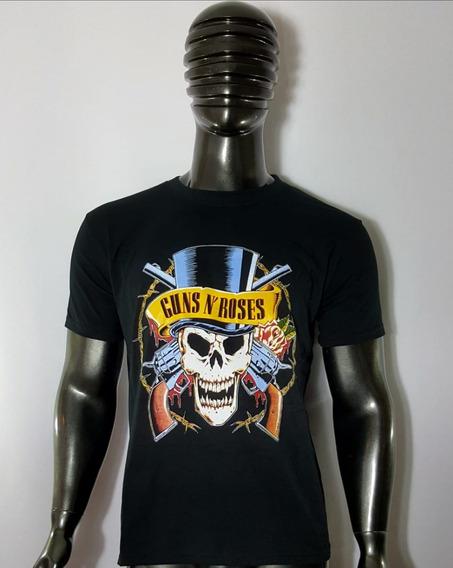 Polera Guns N Roses / Calavera Sombrero