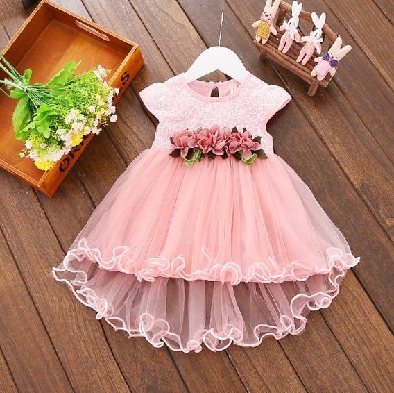 Vestido Festa Bebê Infantil Casamento Batizado Daminha