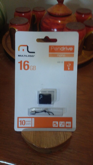 Pendrive Nano Multilaser 16 Gb
