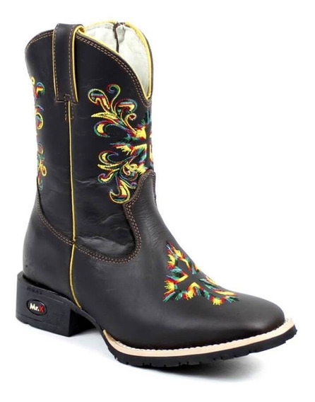 Bota Mr West Boots Kids Preto Multi