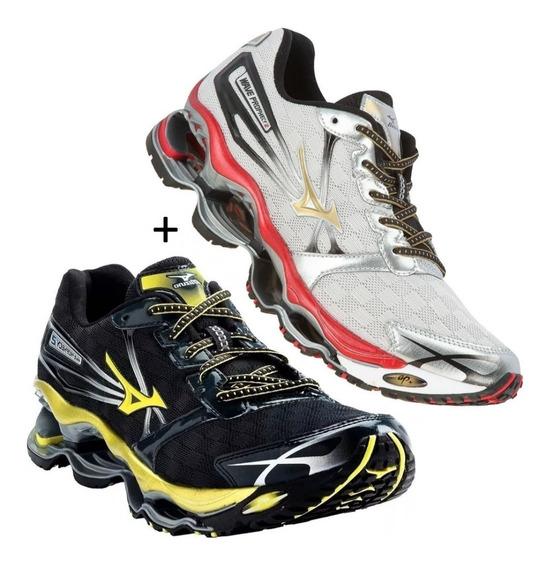 Tenis Mizuno Wave Prophecy Pro 2 Corrida Kit Com 2 Pares