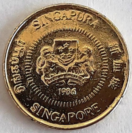 Moneda Bañada En Oro 24k - Singapur Del Año 2010 Con Cápsula