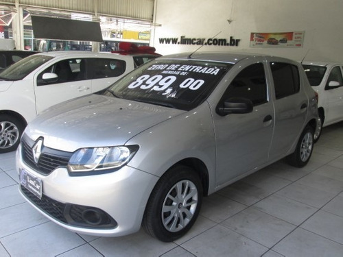 Renault Sandero Flex Ano 2019 Unico Dono Zero De Entrada