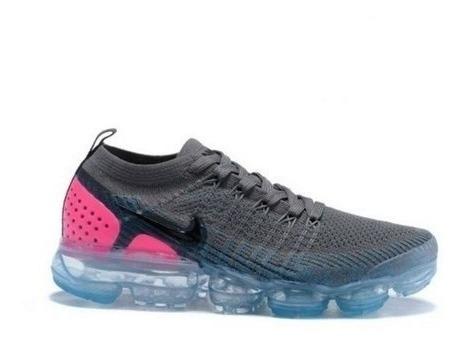 Tênis Nike Vapormax Flyknit 2 Original Feminino-cinza C/rosa