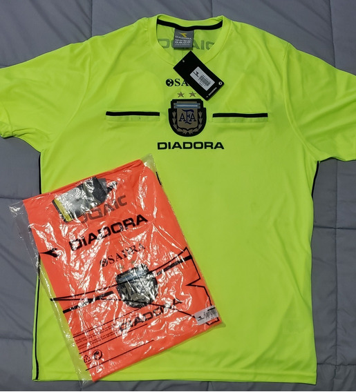 Camiseta Árbitro Afa Diadora Original / Amarilla Naranja L