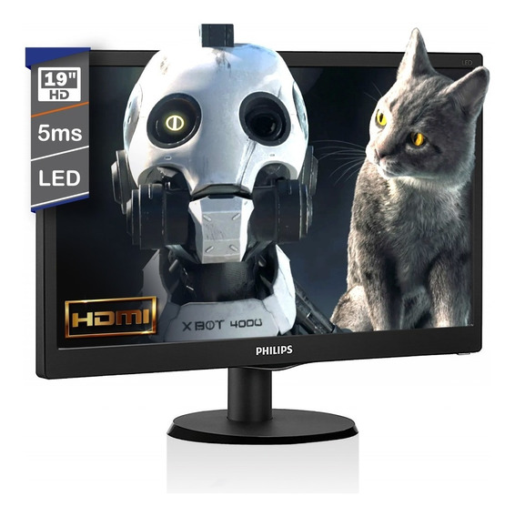 Monitor Hdmi Pc 19 Pulgadas Led Philips Vga 193v5lhsb2/55