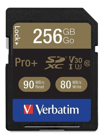 Cartão De Memória Sd Verbatim 256gb U3 4k 90mb/s - Lacrado