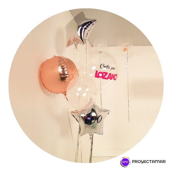 Bouquet 5 Globos 1 Burbuja Personalizada