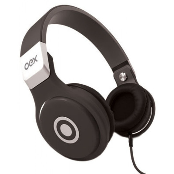 Headset Groove Dobrável Preto Hp102 Oex