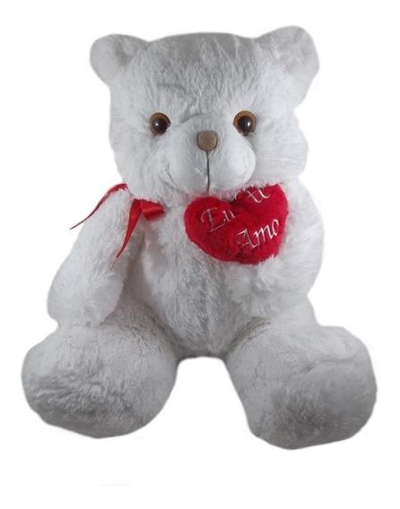 Urso Branco Grande 50cm Presente Namorados Promoção