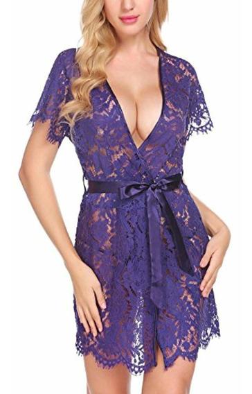 Avidlove Encaje De Mujer Kimono Camisón