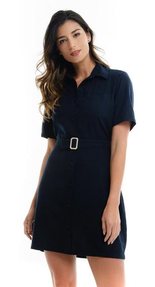 Vestido 97457cl Color Azul Talla Xxs Fds