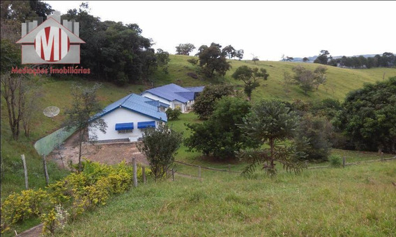 Sítio Deslumbrante Com Escritura, 03 Casas, 09 Dormitórios À Venda, 130000 M² Por R$ 1.900.000 - Zona Rural - Pinhalzinho/sp - Si0037