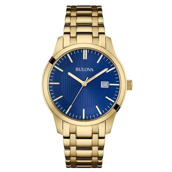 Relógio Bulova Masculino Dourado Wb22444z Original Barato