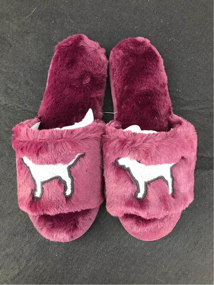 Pantunflas Victorias Secret Pink Originales Guindas Mediana