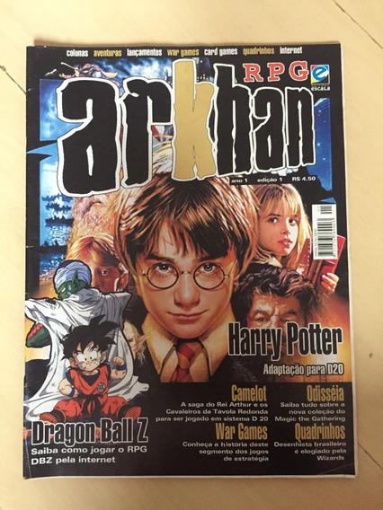 Revista Rpg Arkhan 1 Harry Potter Dragon Ball War Games Z132