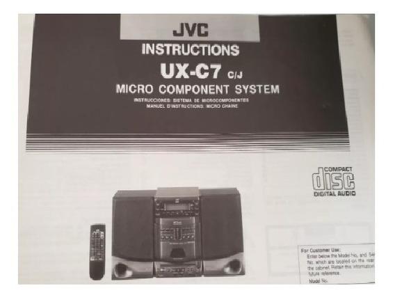 Aparelho De Som Jvc Modelo Ux-c7