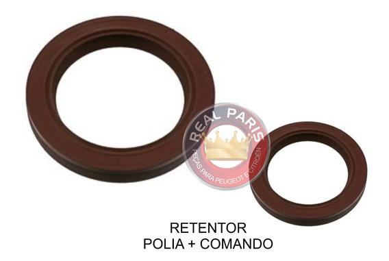 Kit Retentor Comando Valvulas E Polia Virabrequim Peugeot 207 206 106 205 Citroen C3 1.4 8v 1.0 8v