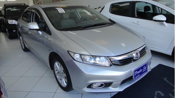 Honda Civic 2.0 Lxr Flex Aut 2014 Revisado,couro,periciado