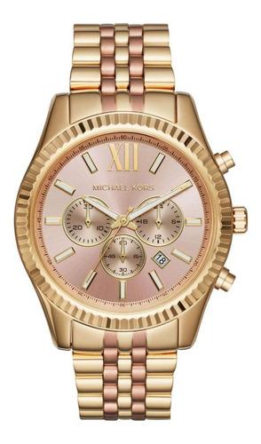 Relógio Michael Kors Dourado E Rose Mk6473/5xn - Original