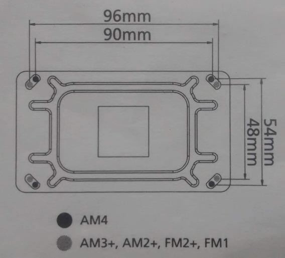 Kit Adaptação Cooler Am4 Ryzen A8 A10 Am2/2+ Am3/3+ Fm1 Fm2