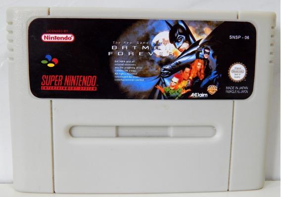 Batman Forever Inglês Snes Super Famicom Super Nintendo
