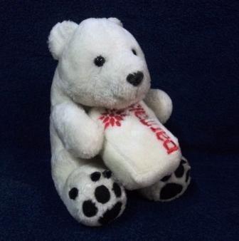 Urso Polar De Pelúcia Da Coleção Mamíferos Parmalat (296)