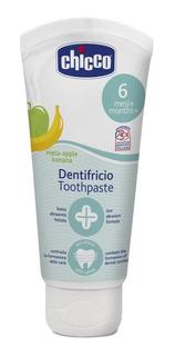 Chicco Pasta Dental 6m+ Sin Flúor, Sabor Manzana-plátano