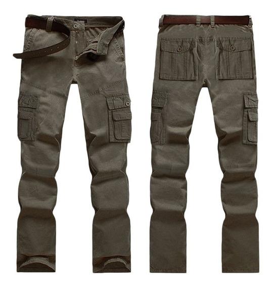 Calça Tática Militar Combate Masculina 6 Bolsos Reforçada