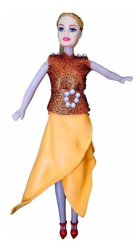 Imagem 1 de 1 de Donna - Laranja Com Glitter - Bonecas Artesan