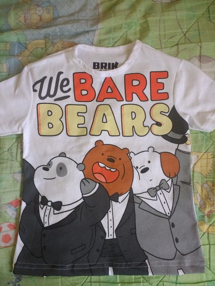 Playera Osos Escandalosos We Bare Bears Ch - M - G