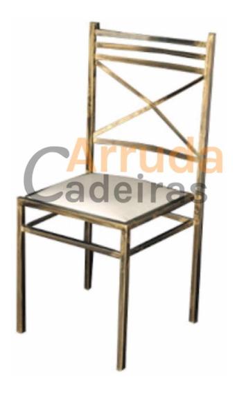 100 Cadeira De Ferro Para Buffet - Ouro Velho