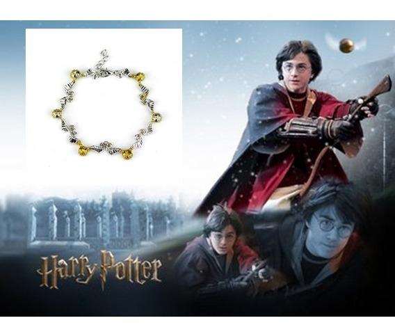 Pulseira Harry Potter Pomo De Ouro Prata E Dourado