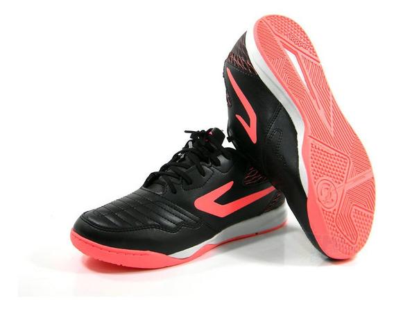 Tenis Futsal Topper Dominator Td Preto/rosa Tam: 37 Ao 42