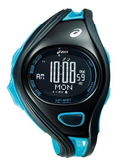 Relógio De Pulso Asics Challenge Regular - Preto/azul Claro