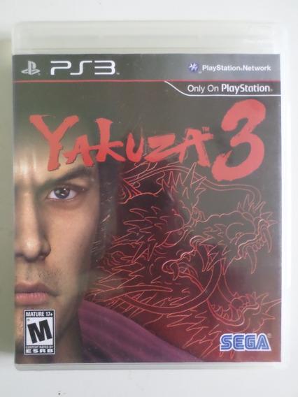 Jogo Yakuza 3 Ps3 Mídia Física