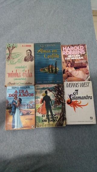Lote 6 Livros De Romances Antigos De Escritores Consagrados