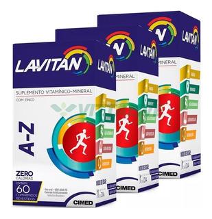Kit 3 Lavitan A-z Polivitamínico 60 Comprimidos (180 Comps)