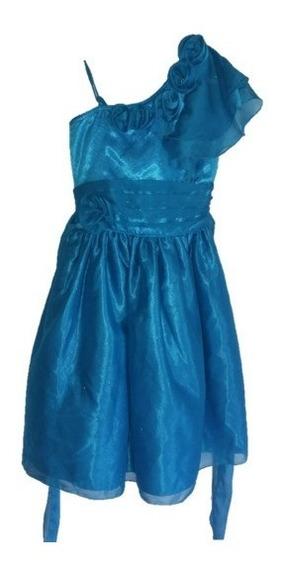 Vestido Para Fiesta Elegante De Niña Moda Niña Azul Turquesa